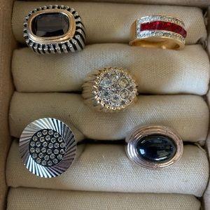 Vintage costume unisex rings